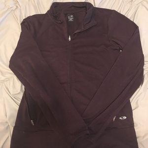 Maroon running jacket